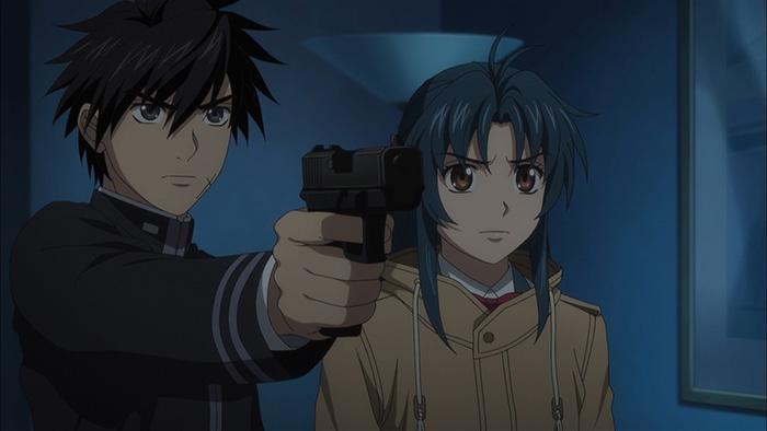 Sousuke Sagara & Kaname Chidori from anime Full Metal Panic!