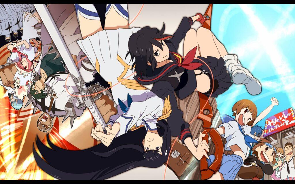 kill la kill ryuko satsuki and friends
