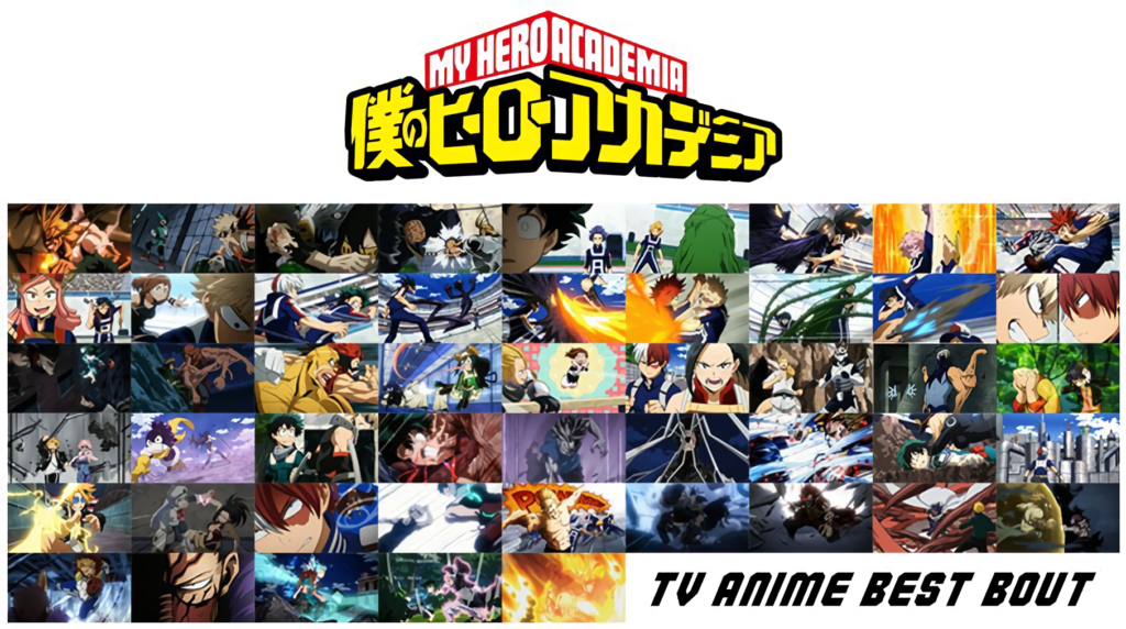 Key visual for My Hero Academia best fights competition