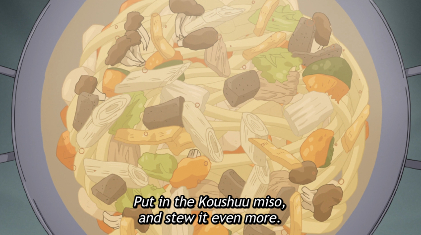 Chiaki makes houtou for Nadeshiko