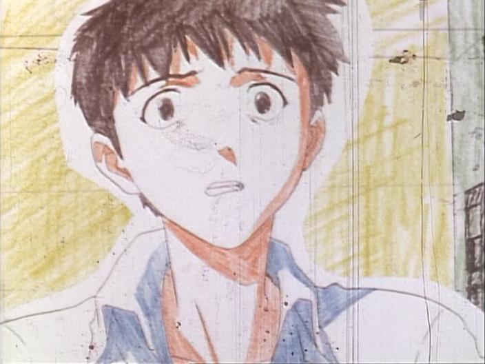 Shinji from anime Neon Genesis Evangelion