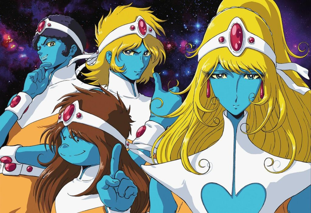 Character art of the Crescendolls, the fictional band from Interstella 5555