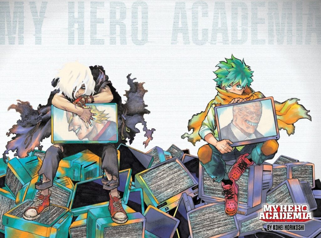 Color page for My Hero Academia Chapter 306