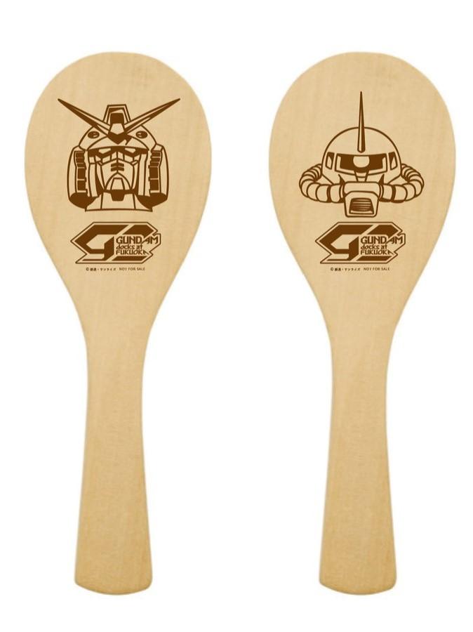 Shamoji (rice paddles) for Gundam-themed matsuri dance