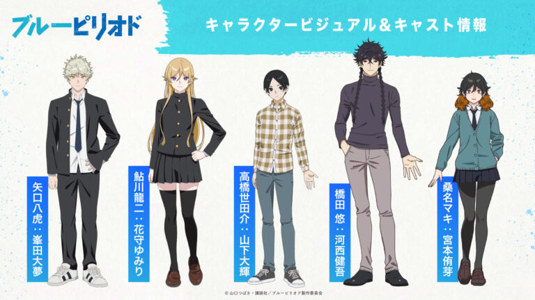 Main Cast for Anime Blue Period