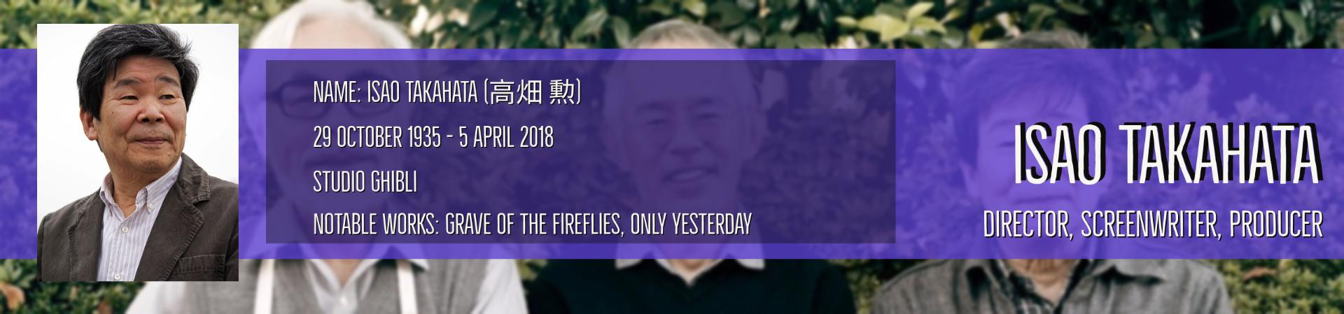 Isao Takahata bio box