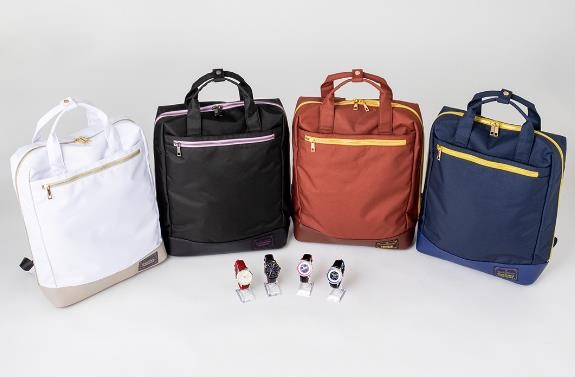 Madoka Magica and Magia Record backpacks and watches