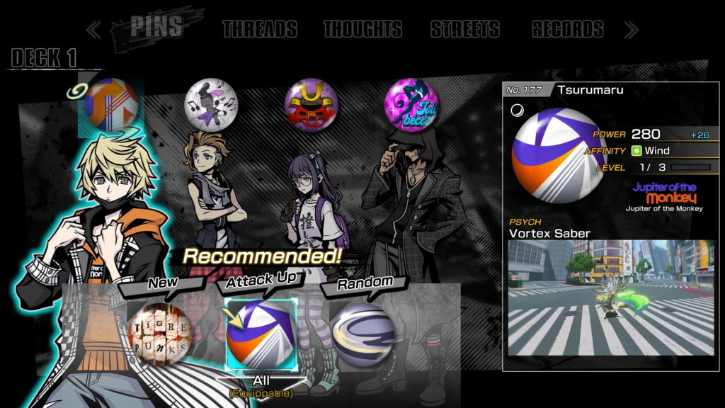 Pins_Equipment in Neo: The World Ends with You