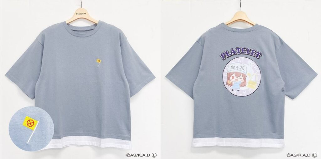 Platelet T-Shirt from Cells At Work x Sanrio Collaboration