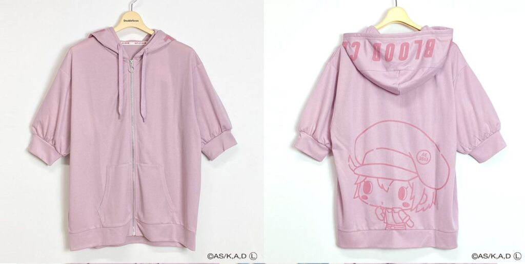 Red Blood Cell Zipper Hoodie from Cells At Work x Sanrio Collaboration Features Chibi Cells