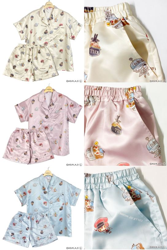 Pyjamas from Cells At Work x Sanrio Collaboration