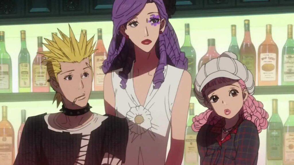 Arashi, Isabella, and Mikako from Paradise Kiss