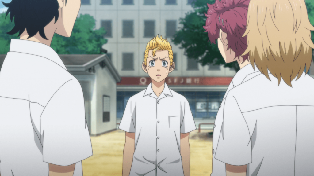 tokyo revengers takemichi meets his friends