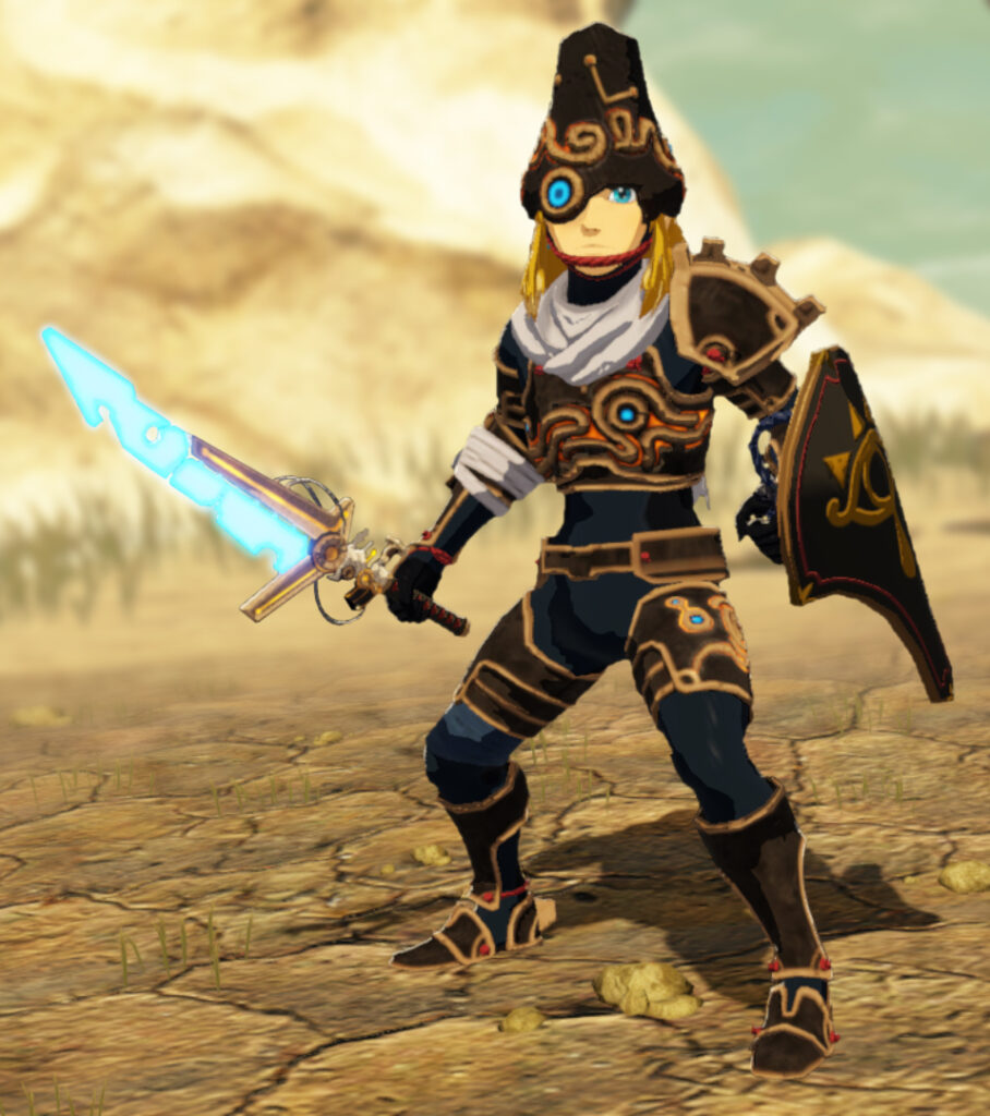 Link with the Prototype Ancient Armor and Sword
