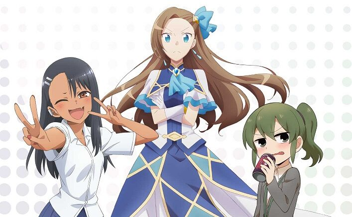Three-Way Anime Crossover Features My Next Life As A Villainess; Don't Toy With Me, Miss Nagatoro; My Senpai Is Annoying