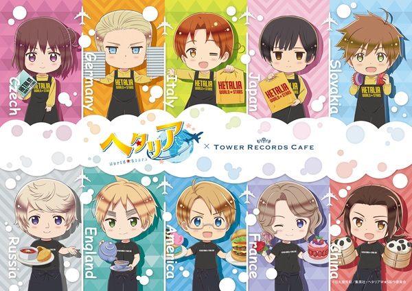 Hetalia x Tower Records Cafe Menu Will Feature Global Tour of International Dishes