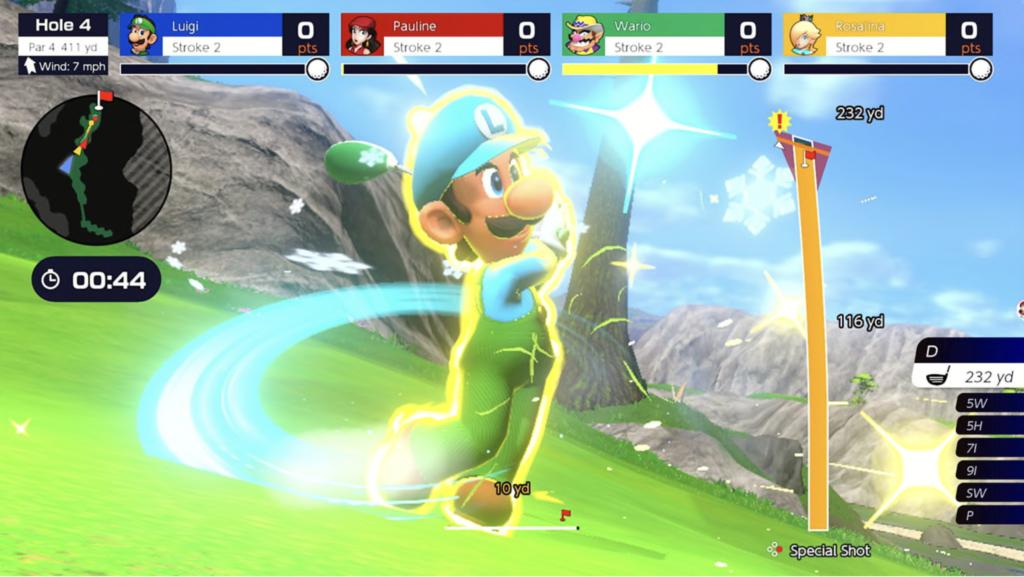 Luigi in Mario Golf Super Rush