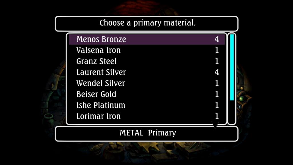 Legend of Mana Remaster Menu