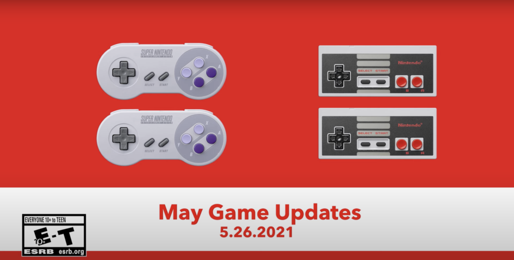 Switch Online MAY Game Updates