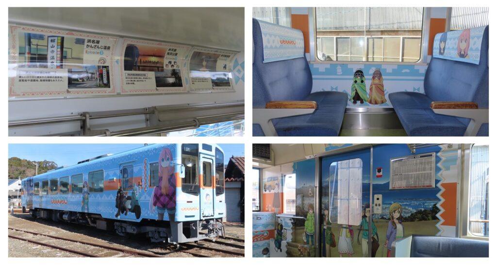 Yuru Camp-wrapped train on Tenryu Hamanako Railway
