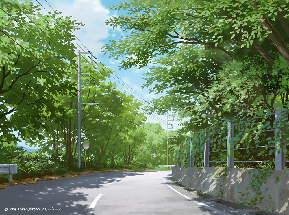Admire the Beautiful Backgrounds of Spring Anime Super Cub on Show's Official Website