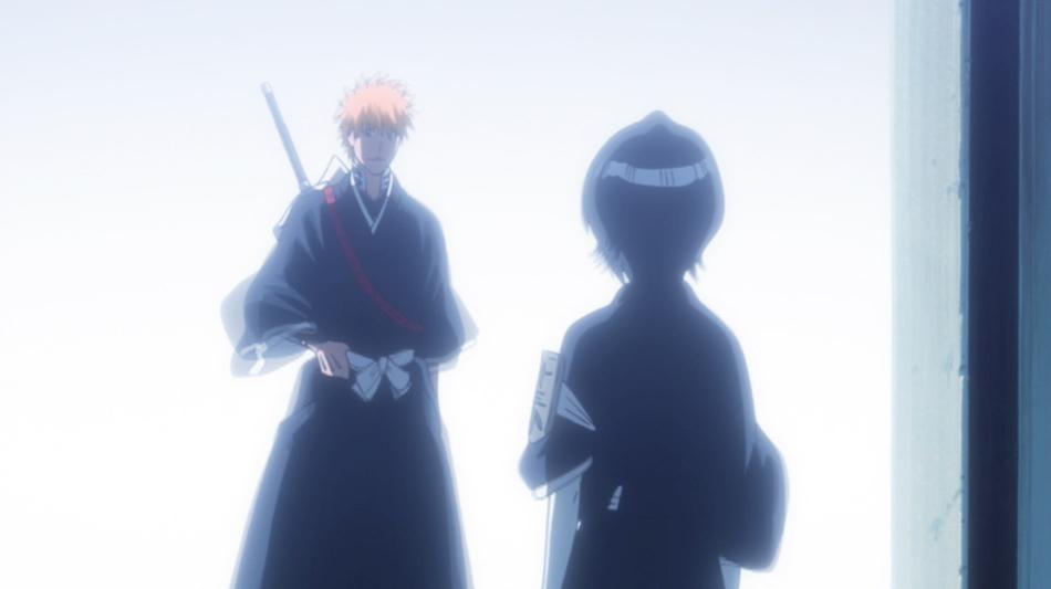 Ichigo says see ya around to Rukia.