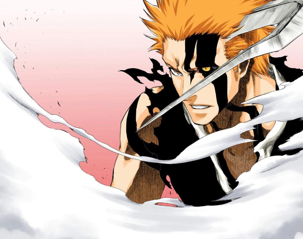 Ichigo in Bleach manga