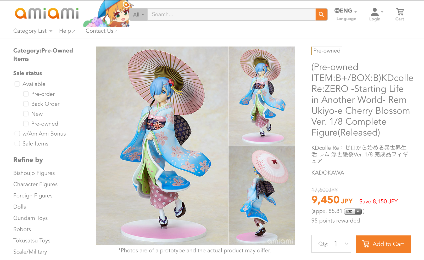 AmiAmi pre-owned