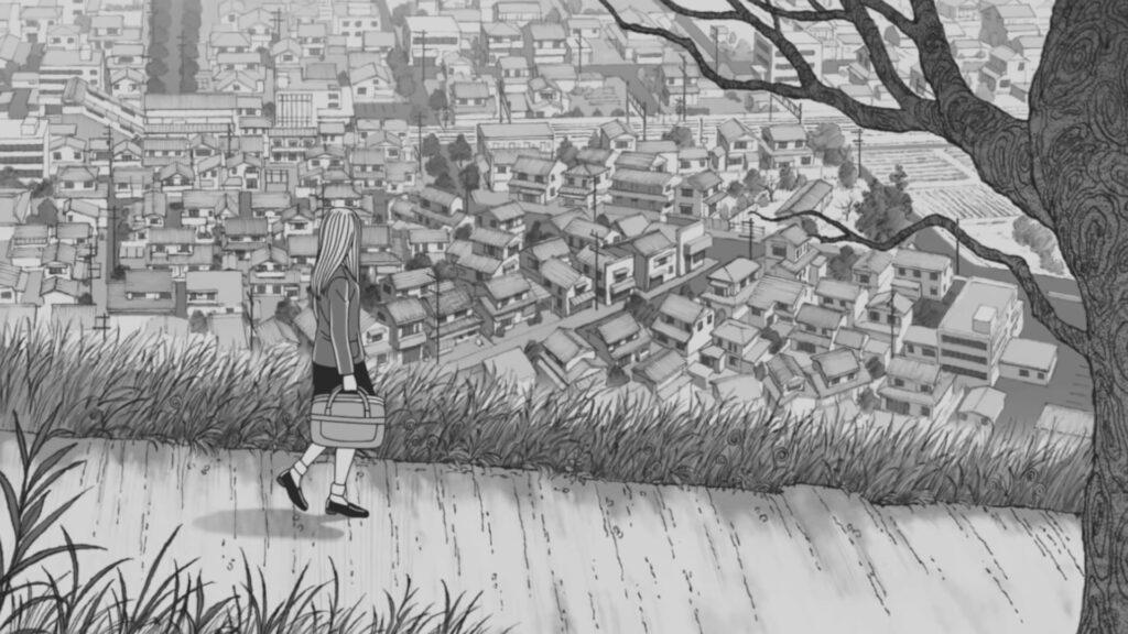 Screenshot from Uzumaki anime teaser