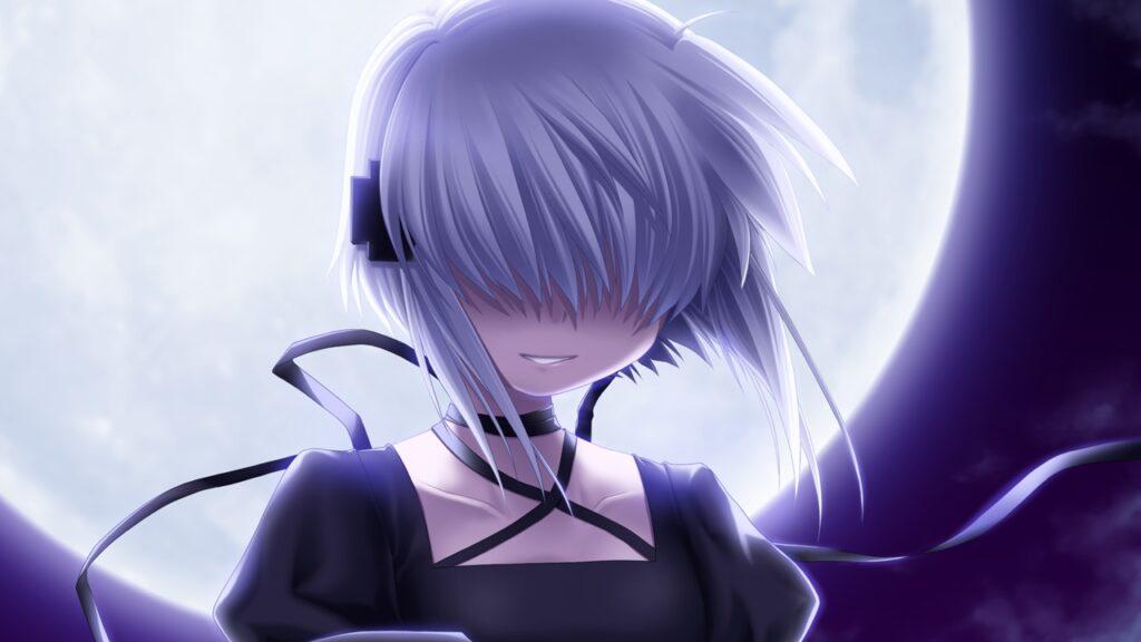 rewrite anime character kagari hidden eyes