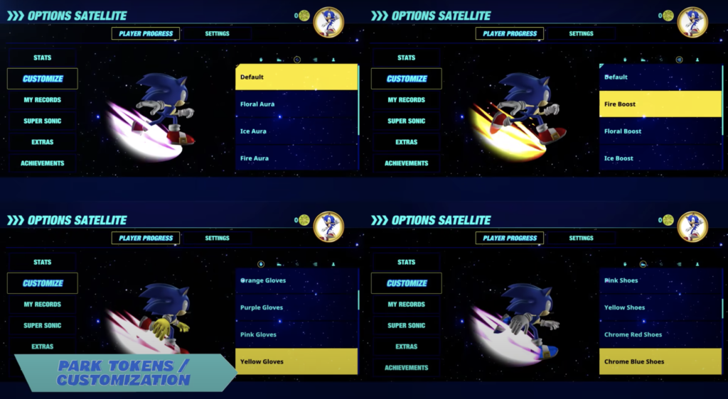 Sonic Colors Ultimate Rival Rush Customize