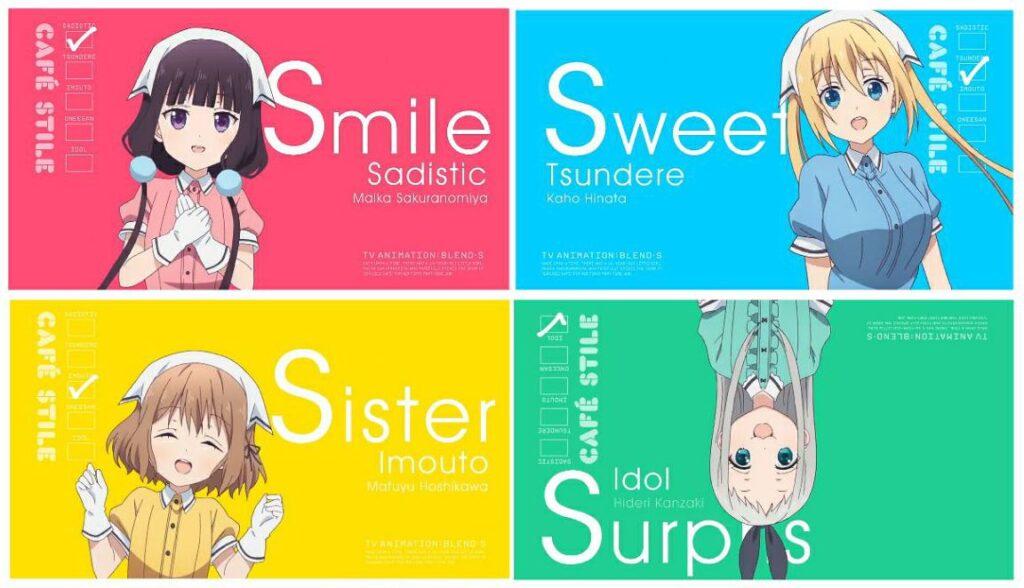 blend s anime dere types