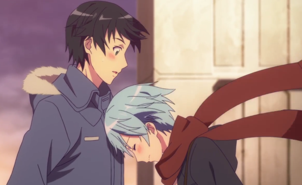 fuuka and yuu embrace