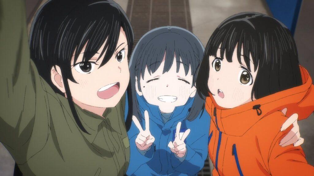 super cub three leads koguma, reiko, and shii